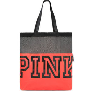 Pink Mesh Tote NWT